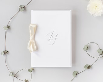 PRINTED Initials Order of Service Book - Wedding Program Booklet - size A5