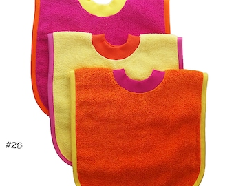 Pullover Baby to Toddler Bibs -- Set of Three -- Set 26