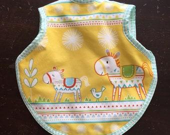 baby bib, bibs, boy bib, girl bib, baby gift, southwestern fabric, terry bib, baby girl bib, handmade baby gift, modern baby gift, bib