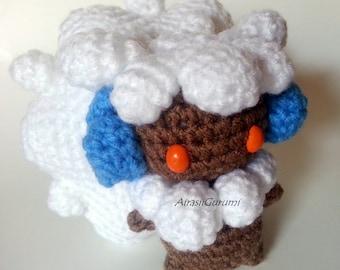 Chibi Shiny Whimsicott Amigurumi Plush, Crochet Amigurumi