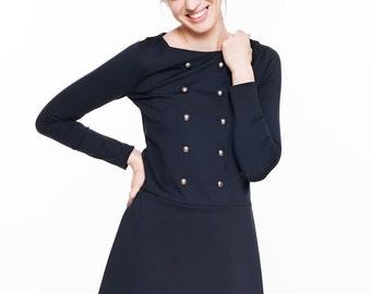 Short dress | Sailor dress | Midnight blue dress | LeMuse short dress