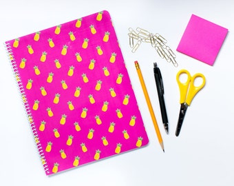 Pineapple notebook - pink pineapple notebook