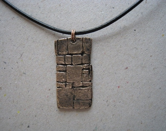 Archaeology Inspired Wall Oxidized Bronze Pendant - Wall Pendant - Archaeology Pendant
