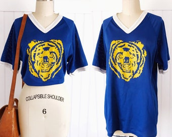 Vintage 70's Grizzly Bear sports jersey t-shirt top
