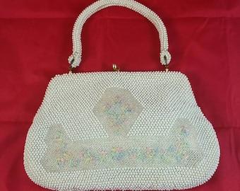 Vintage Plastic Beaded Bag Made in Japan