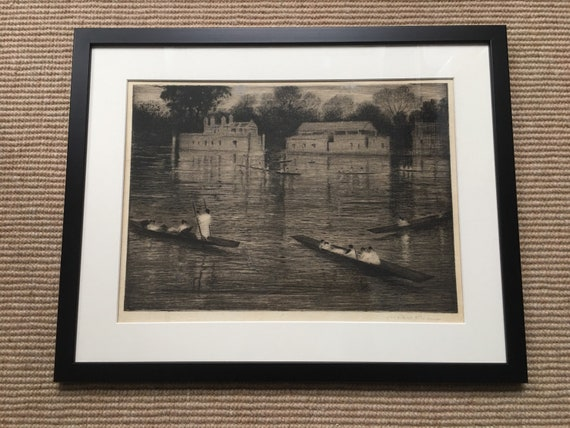 C.R.W. Nevinson (1889-1946) Sunday Evening etching with aquatint 1924-1927 signed in pencil