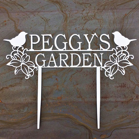 Custom Metal Garden Stakes   Custom Garden Sign   Garden Art   Gift For Mom   Gift For Grandma