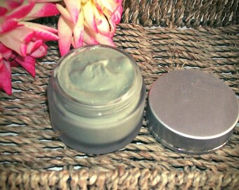 Organic Facial Mask, GREEN Clay Mask, Skin Care Detox Face, Gift for her, Clay Mask Face Skincare Organic Facial Clay Exfoliating Oily Pores