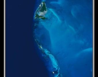 Bimini Island Bahamas Satellite Poster Map