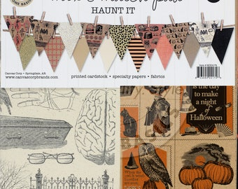 """Canvas Corp Mix & Match Pad, """"Haunt It"""" Collection, 12X12 Scrapbooking, Paper and Mixed Media Halloween, Halloween Party and Decor"""