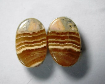 Natural Rhodochrosite cabochon, Matched pair Rhodochrosite loose gemstone,Rhodochrosite gemstone,Rhodochrosite loose stone 18 Cts. R-743