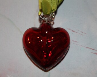 Hand Blown Glass Heart