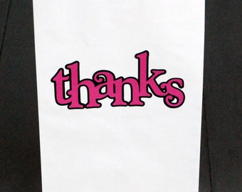 Thank You Paper Bag - Thank You Favor Bags - Thank You Gift Bags - Thanks