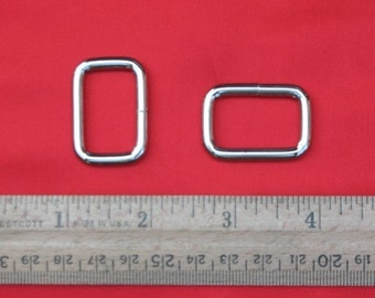15 pieces 1 Inch / 26mm Metal Wire-Formed Rectangle Rings (available in nickel and antique brass finish)