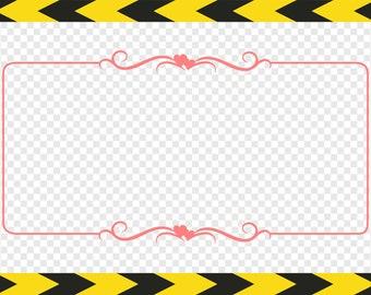 Heart frame Svg frames Decorative Clipart Scrapbook Dxf Pdf Png files