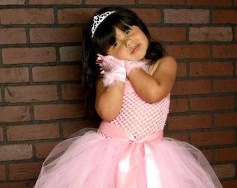Pink Princess double layer tutu dress, tutu dress, girls tutu dress, toddler tutu, baby dress, halloween costume, princess dress
