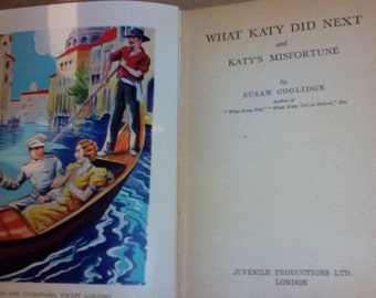 """25% off - Antique Childrens Book - """"What Katie did next?"""" by Susan Coolidge c1886"""