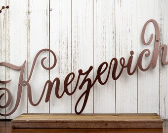 Family Name Metal Wall Art | Name Sign | Family Sign | Metal Sign | Outdoor Sign | Custom Sign | Personalized Sign | Sign