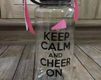 Keep Calm Cheer On Tumbler