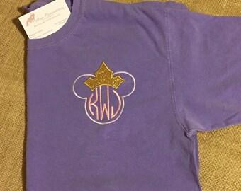Princess Inspired Monogram Shirt - Monogram Shirt - Adult Shirt - Disney Inspired Shirt - Monogram Disney Shirt