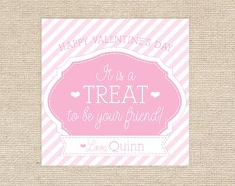 Printable Valentine Treat Tags