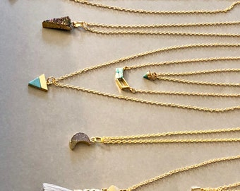14K Gold Filled Tiny Gemstone Layering Necklaces / Charm /Women's / Gifts / Trending / Bridesmaids / Fashion