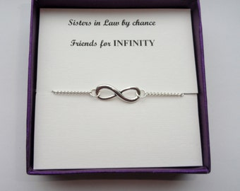 Sister in law gift, Silver infinity ankle bracelet, Silver infinity anklet, Infinity anklet, Infinity jewelry, Bridesmaid gift, Gifts