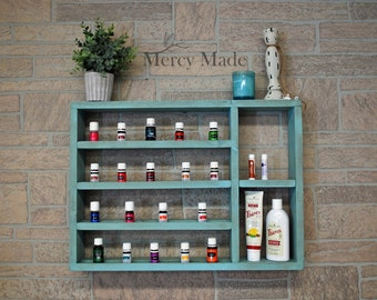 Essential Oil Shelf, Oil Shelf,  Essential Oils Organizer, Essential Oil Rack, Essential Oil Storage, Wood Shelf, Hanging Shelf, Unique Gift
