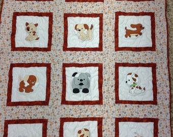 Puppy dog Baby quilt