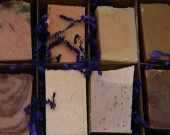 Goats Milk Soaps Sampler Family or Couples Gift Box 1