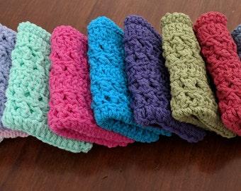 Two Crochet Cotton Wash/Dish Cloths