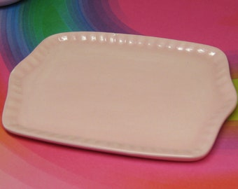 Oops Pink 18 inch doll serving dish American Girl tray ceramic miniature party favor miniature plate