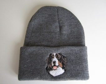 Bernese Mountain Dog embroidered beanie