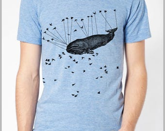 Men's T shirt Aviation Whale Birds Urban American Apparel Tee XS, S, M, L, XL 9 COLORS IR3