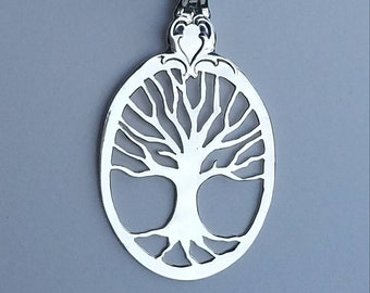 Handmade Sterling Silver Tree of Life Family Tree Necklace