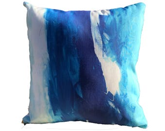 Linen Cotton Canvas Ultra Pillow - Coastal (18 x 18 Inches)