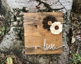 Rustic Home Decor,Wood Decor,Love Sign,Rustic Sign,Farmhouse Decor,Country Decor,Home Decor,Hand Painted