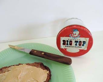 Big Top peanut butter jar, Proctor & Gamble, vintage jar, advertising jar, vintage advertising, peanut butter jar, collectible glass jar