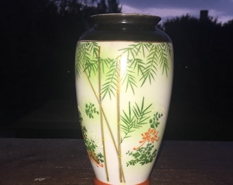 Pleasant Japanese Hand Painted Vase