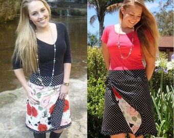 Reversible Wrap Skirt Pattern - 2 skirts in 1