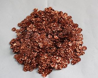 100 Metallic Copper Color/Round Sequins /3D Crimpled Texture/ KRS651