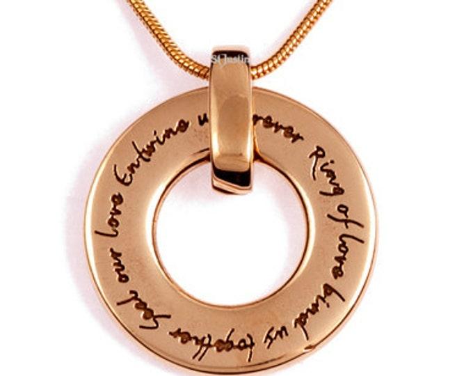 English Love pendant bronze- Hand Made in UK
