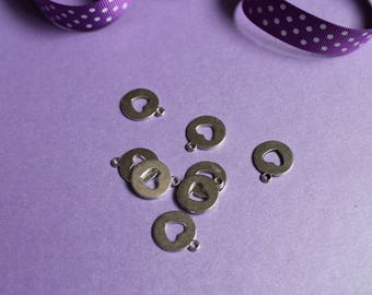 6 charms to make the bracelet silver disc Charm