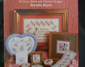 Cross Stitch Pattern Book, Hardcover Books, Romantic Cross Stitch,  Cross Stitch, Cross Stitch Sampler, Alphabet Cross Stitch