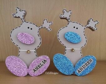 Wonky Reindeer onament, Christmas reindeer, Christmas gift
