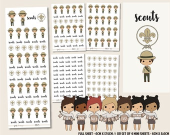 Scouts | PMD Girl Stickers | Mini Planner Sticker Sheets - PMD29