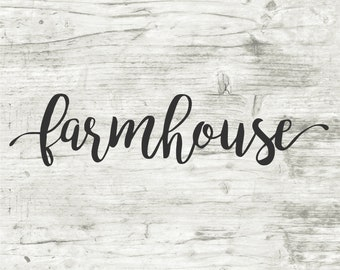 Farmhouse Script Vinyl Stencil, Vinyl Stencil, Stencil, Wood Sign, Wood Crafts, Vinyl, Home Decor, Farmhouse Vinyl, Farmhouse Decor