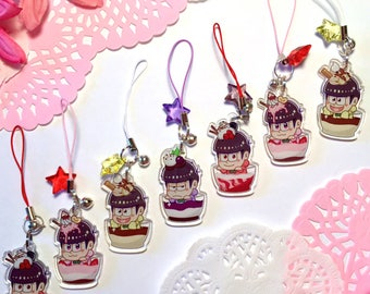 Osomatsu San Inspired Double Sided Parfait Charms