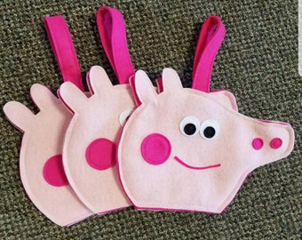 Peppa pig inspired party bags. Set of 5.
