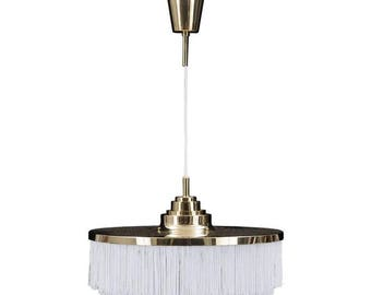 Pendant in Brass with Silk Fringes by Hans-Agne Jakobsson